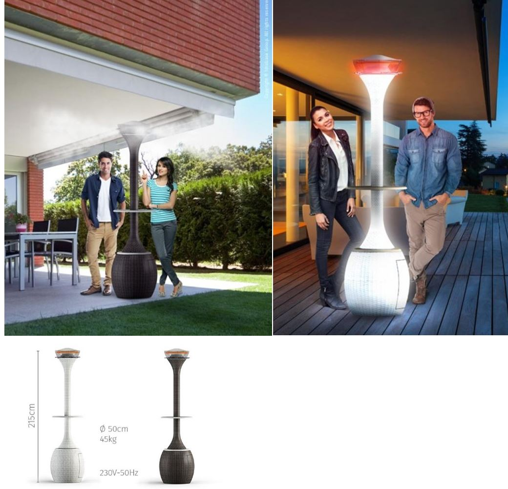 Oasi Mist fan cooler and Outdoor Patio heater